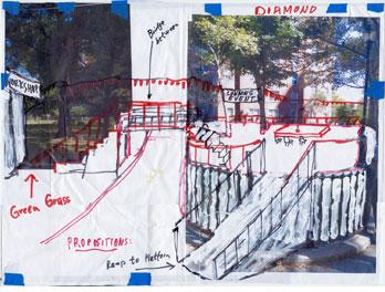 Thomas Hirschhorn, Gramsci Monument Sketch (2013), via Dia