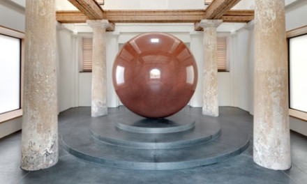 Walter de Maria, Large Red Sphere (2010), via The Guardian
