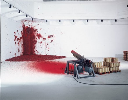 Anish Kapoor, Shooting Into the Corner (2008-2009), via The Guardian