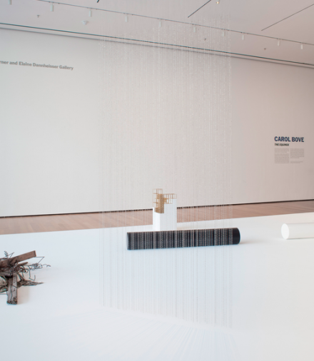 Carol Bove, Equinox (Installation View), via Museum of Modern Art