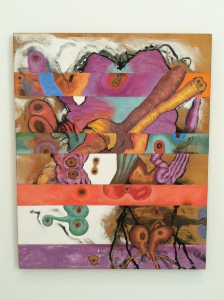 Carroll Dunham, Horizontal Bands (1982), via Daniel Creahan for Art Observed