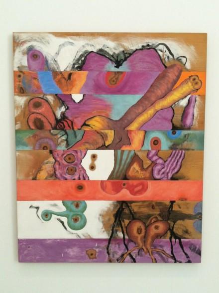 Carroll Dunham, Horizontal Bands (1982), via Daniel Creahan for Art Observed