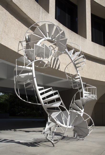 Peter Coffin, Untitled (Spiral Staircase) (2007),  Courtesy Hirshhorn Museum.