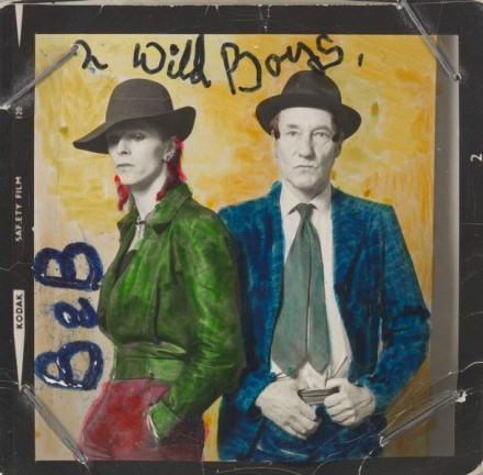 David Bowie and William Burroughs (1974), via Victoria and Albert Museum