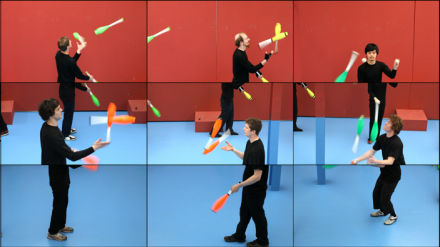 David Hockney, The Jugglers, June 24th 2012 (detail), (2012), Via Hockney Pictures and Pace Gallery