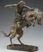 "Frederic Remington's ""Bronco Buster,"" via New York Times"