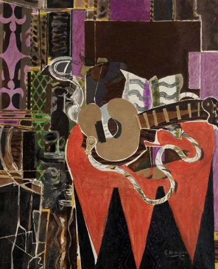 Georges Braque, Mandolin and Score (The Banjo) (1941), via Phillips Collection