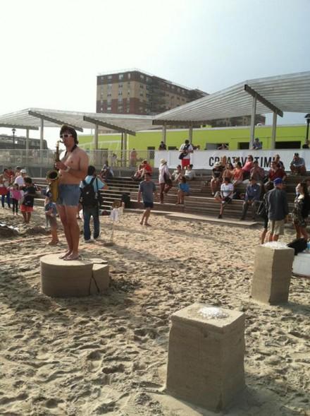 Jamie Isenstein's Winning Sand Installation, via Daniel Creahan for Art Observed