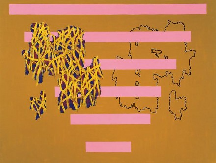 Jonathan Lasker, Double Play (1987), via Cheim and Read
