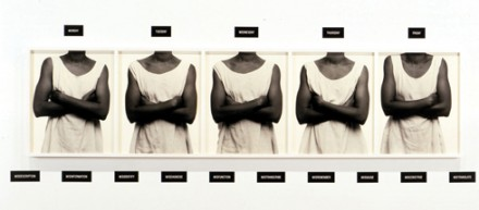 Lorna Simpson, Five Day Forecast (1988), via Jeu de Paume