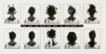 Lorna Simpson, Stereo Styles (1988), via Jeu de Paume