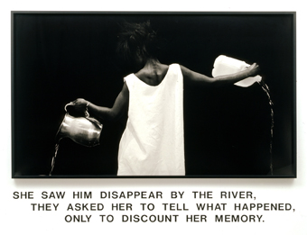 Lorna Simpson, Waterbearer (1986), via Jeu de Paume