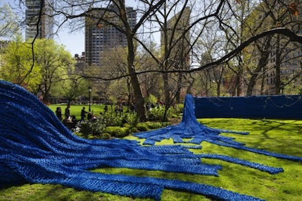 Orly Genger, Red, Yellow and Blue (2013) via Madison Square Park