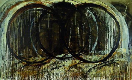 Pat Steir, Last Wave Painting: Wave Becoming a Waterfall (1987-88), via Cheim and Read