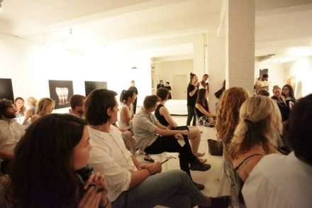 Guests listening to AOL's David Shing at A Surrealism Salon