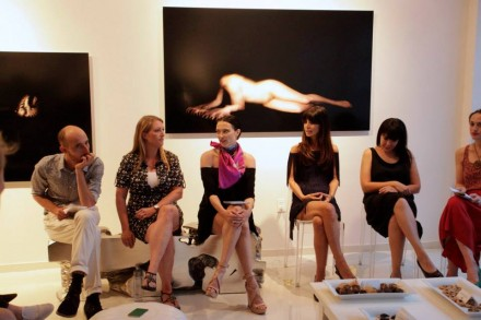 Panelists at A Surrealism Salon, from left: Marc Arthur, Dr. Megan Fleming, Lia Chavez, Heide Banks, Summer Guthery, Shana Lutker