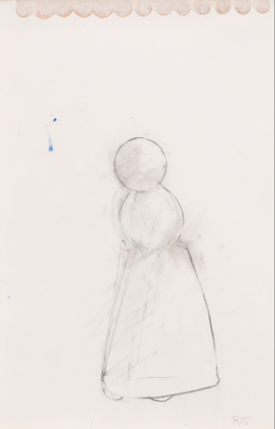 Robert Therrien, no title (snowwoman) (1988), Collection of Linda Maddocks Brown. Image courtesy of Robert Therrien studio. Photograph by Joshua White.