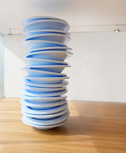Robert Therrien, no title (stacked plates) (2006), The Collection of Linda Maddocks Brown. ©2010 Robert Therrien. Image courtesy of Robert Therrien studio. Photograph by Joshua White.