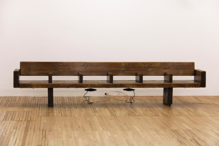 Sergei Tcherepninm, Motor-Matter Bench, (2013), courtesy of Murray Guy, New York Photographer Fabiana Viso