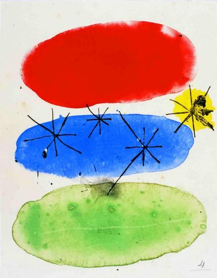 Joan Miró, Sans titre, (n.d).,courtesy Fondation de l'Hermitage