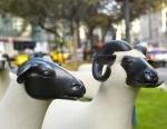 """2 of Francois-Xavier Lalanne's """"Moutons,"""" via NY Times"""