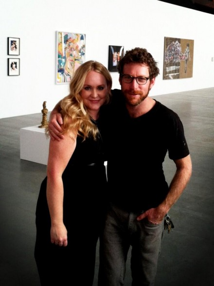Anna Erickson and Dustin Yellin at Pioneer Works, via Daniel Creahan for Art Observed