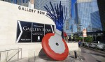 Claes Oldenburg and Coosje van Bruggen, Typewriter Eraser, Scale X, outside MGM CityCenter, via ArtInfo