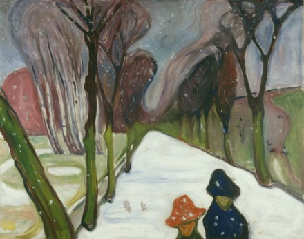 Edvard Munch, New Snow in the Avenue (1906), Courtesy Munch Museet