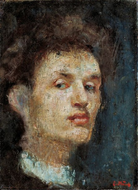 Edvard Munch, Self-Portrait (1886), Courtesy Munch Museet