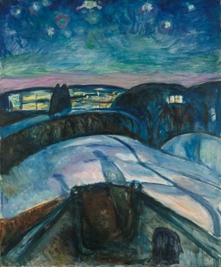 Edvard Munch, Starry Night (1922-24), Courtesy Munch Museet