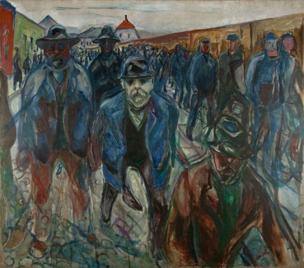 Edvard Munch, Workers on Their Way Home (1913-1914), Courtesy Munch Museet