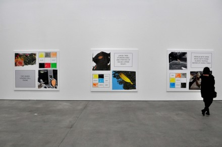 John Baldessari, Storyboard (in 4 Parts) (Installation View), via Sophie Kitching for Art Observed