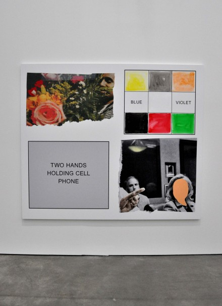 John Baldessari, Two Hands Holding Cell Phone (2013), via Sophie Kitching for Art Observed