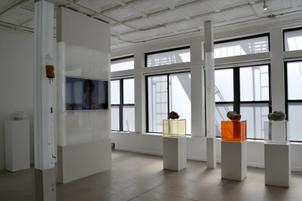 Josh Kline, Quality of Life (Installation View), via Sasha Patkin for Art Observed