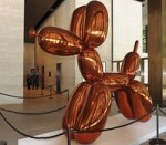 Koons' Bloon Dog (Orange), via Bloomberg