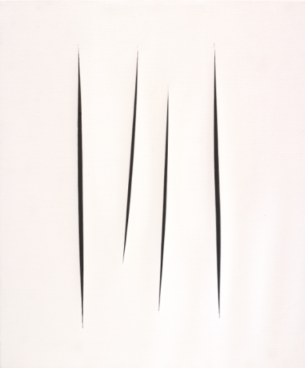 Lucio Fontana, Concetto Spaziale, Attese (1966), Image credit: Tom Powell Imaging Courtesy Dominique Lévy, New York