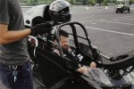 Matthew Day Jackson in his Dragster, via T Magazine