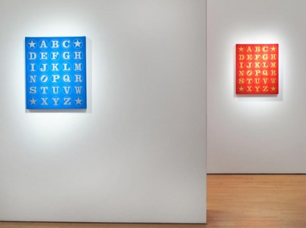 Robert Indiana, A - Z (Installation View), via Woodward Gallery