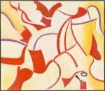 "Willem De Kooning's ""Privileged (Untitled XX)"" (1985), via New York Times"
