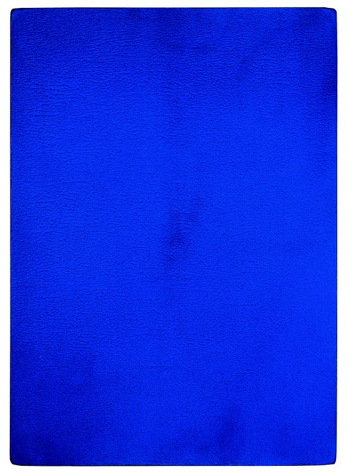 Yves Klein, Untitled Blue Monochrome (IKB 100) (1956), Image credit © Yves Klein, Artists Rights Society (ARS), New York ADAGP, Paris 2013 Courtesy Dominique Lévy, New York