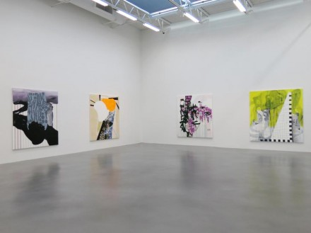 Charline von Heyl (Installation View), via Petzel Gallery