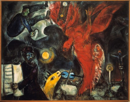 "Marc Chagall, ""The Fall of the Angel,"" (1923), via The Jewish Museum"