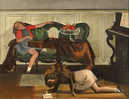 Balthus, The Salon I (1941-43), Courtesy of the Metropolitan Museum of Art