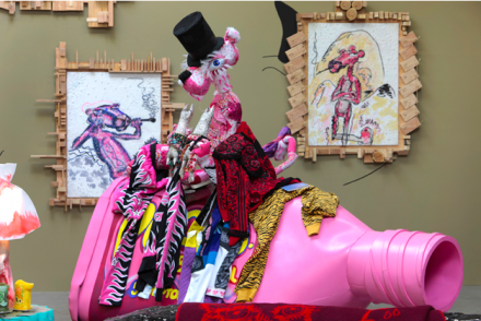 Bjarne Melgaard, Ignorant Transparencies (Installation View), via Gavin Brown