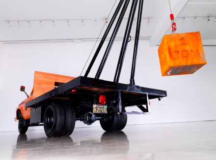 Chris Burden, 1 Ton Crane Truck (2009) Courtesy the artist and Gagosian Gallery