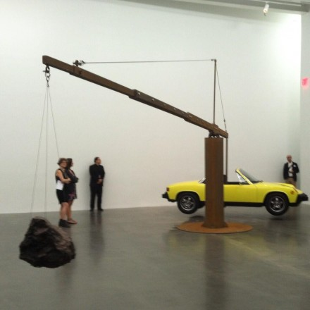 Chris Burden, Porsche with Meteorite (2013), via Daniel Creahan for Art Observed