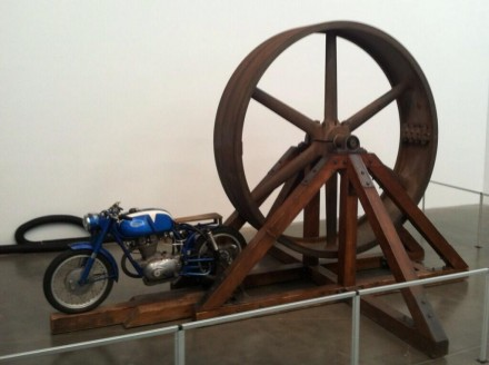 Chris Burden, The Big Wheel (1978), via Daniel Creahan for Art Observed