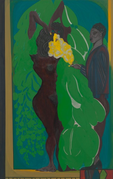 Chris Ofili, Poolside (Crystal) (2012-2013), Courtesy the Artist and David Zwirner