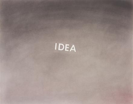 Ed Ruscha, Idea (1976), via Phillips