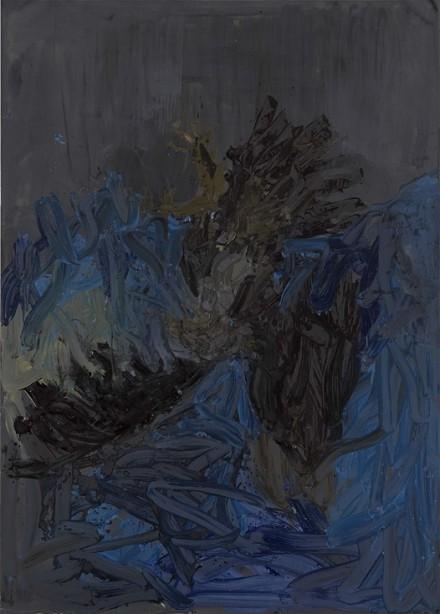 Georg Baselitz, Dunkel age schwarzim (2012), via Thaddeus Ropac